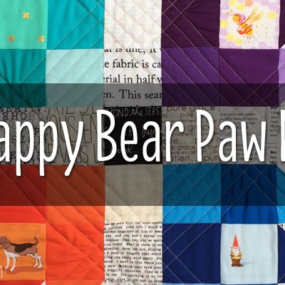 SCRAPPY BEAR PAW MINI QUILT