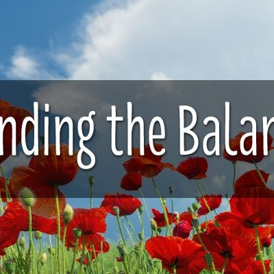 Some thoughts on the balancing act that is following your passion…