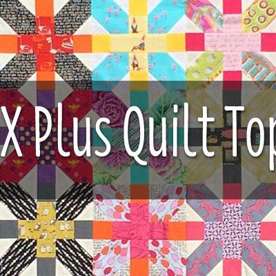 X Plus Patchwork Top