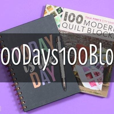 #100Days100Blocks a Tula Pink City Sampler Instagram Sew-Along
