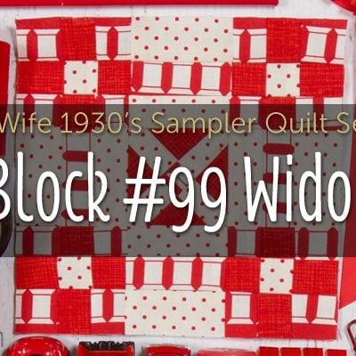 Widow is Block 99 of Farmer's Wife 1930's Sampler Quilt