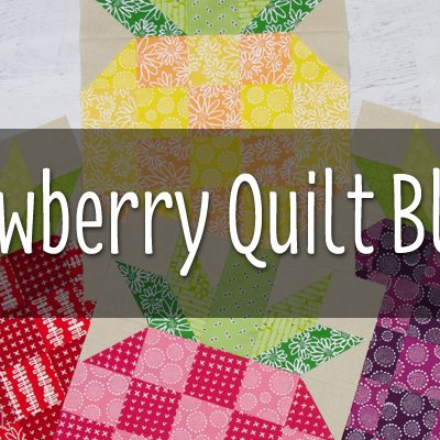 Strawberry Quilt Block for The Honey Pot Bee