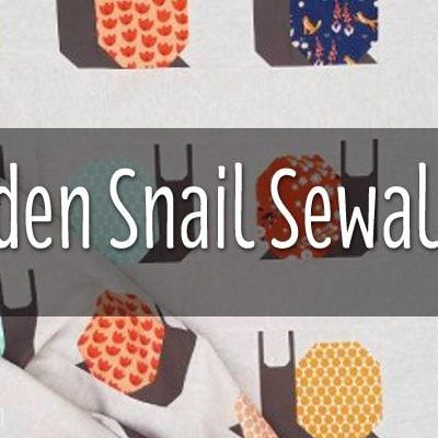 Week 22 | Garden Snail Quilt Snail Paced Slow-along Sew-along