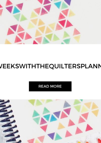 "Quilters Planner | Week 31 | Block ""Fancy Stripe"""