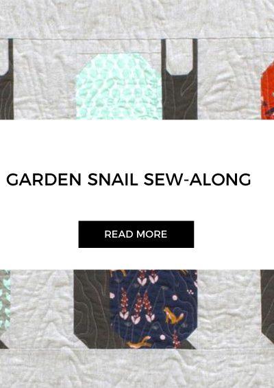 Week 30 | Garden Snail Quilt Snail Paced Slow-along Sew-along