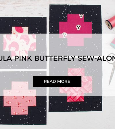 Floating Cross for Tula Pink Butterfly Quilt Sew-along
