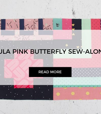 Mini Log Cabin for Tula Pink Butterfly Quilt Sew-along