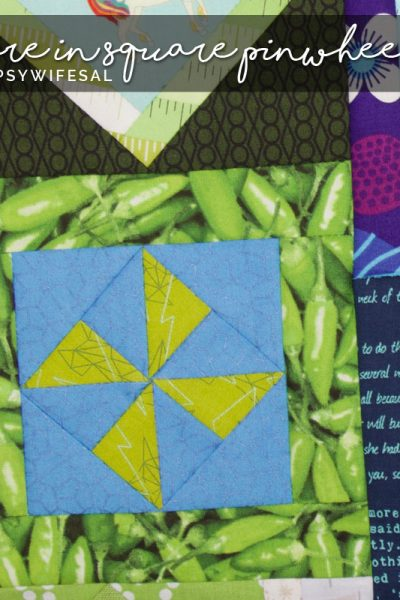 Square in Square Pinwheel for Jen Kingwell's Gypsy Wife