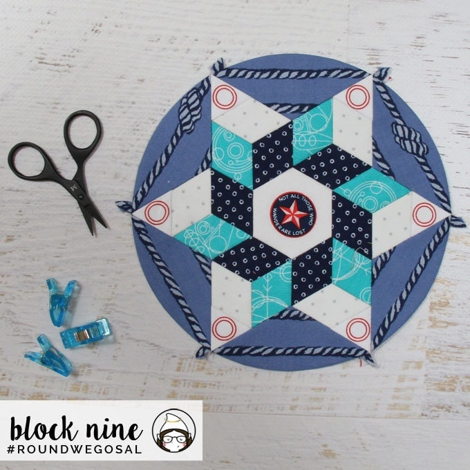 Sue Daley Round We Go Sew-along Version 4 of Block 9