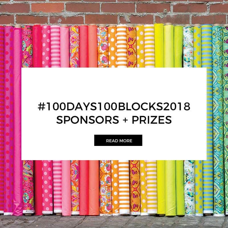Sponsors & Prizes for #100Days100Blocks2018