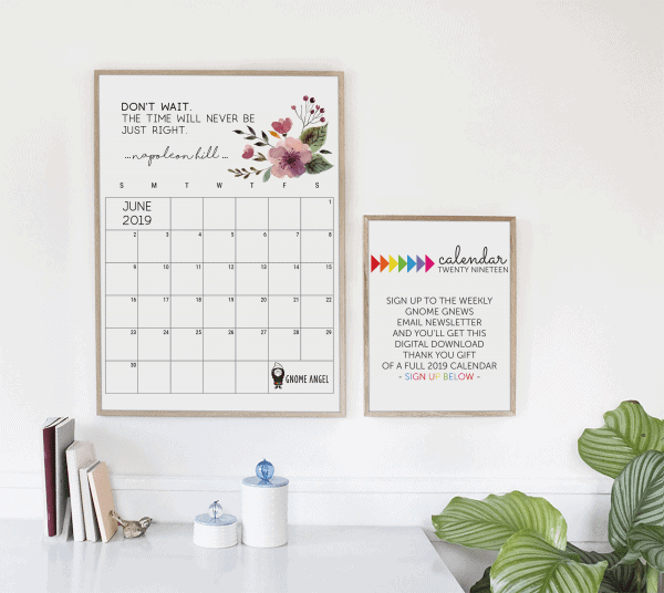 June 2019 Month Calendar Printable - GnomeAngel